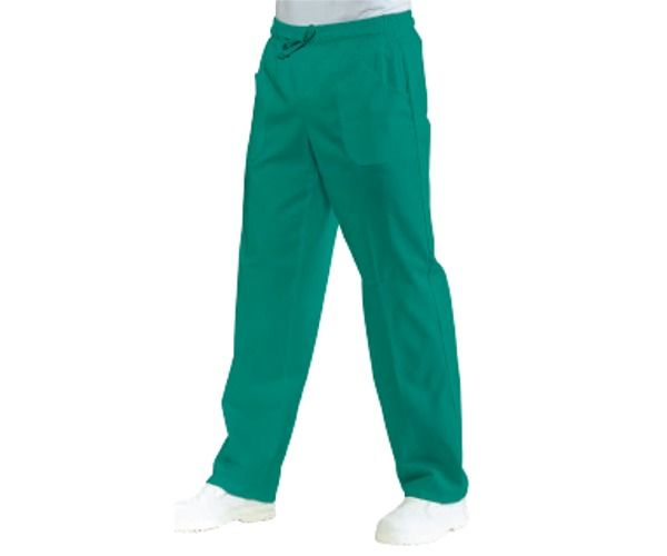 ISACCO pantalone unisex VERDE CHIRURGIA 100% cotton 185 gr
